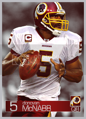 Donovan McNabb Redskins card